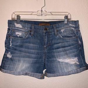 Joe's Jeans Distressed Denim Cutoff Shorts Size 28